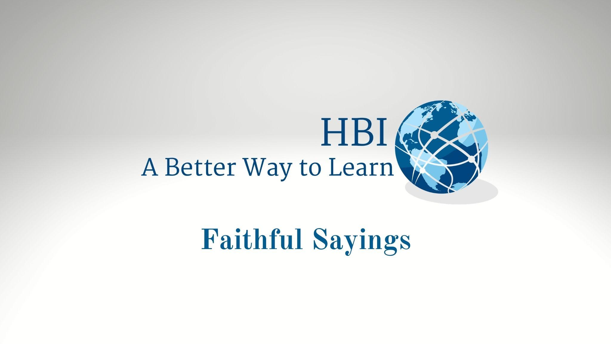Faithful Sayings