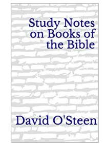 study notes on books of the bible